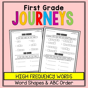 First Grade Journeys - Word Work - Word Shapes and ABC Order