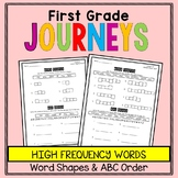First Grade Journeys - Sight Words: Word Shapes and ABC Order