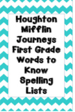 First Grade Journeys Words to Know Spelling Lists