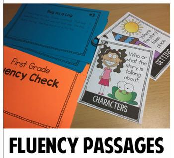 First Grade Kindergarten Reading Passages Fluency Comprehension Bundle