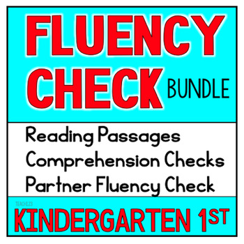 First Grade Kindergarten Reading Passages Fluency Comprehe