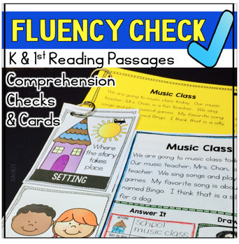 FLUENCY CHECK Reading Comprehension Passages First Kindergarten vol. 2