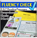 Fluency Passages Comprehension 1st Grade Kindergarten