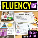 First Grade Kindergarten Reading Passages Fluency Comprehension