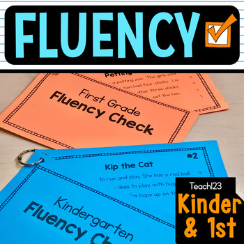 FLUENCY CHECK Reading Comprehension Passages First Kindergarten vol. 1