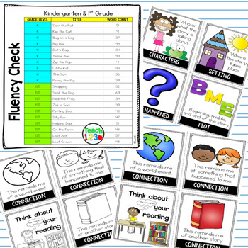 Fluency Passages Reading Comprehension First  Grade Kindergarten