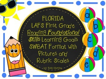 First Grade LAFS RF Learning Goals in SWBAT (Student will