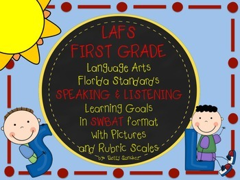 First Grade LAFS Speaking & Listening Goals SWBAT (Student will be able to...)
