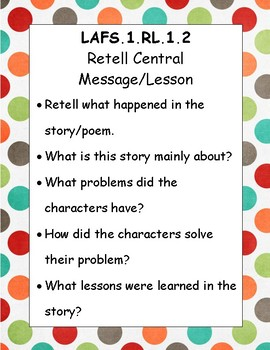 First Grade LAFS question / prompting task cards