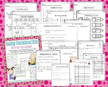 First Grade Language Arts Common Core Bundle