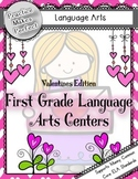 First Grade Language Arts Centers - Valentine's Edition