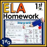 First Grade Language Arts Homework - 1st Quarter