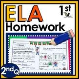 First Grade Language Arts Homework -2nd Quarter