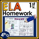 First Grade Language Arts Homework - 4th Quarter