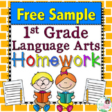 First Grade Language Arts Homework - Free Sample