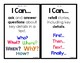 """First Grade Language Arts - """"I Can Statements"""" (Common Cor"""