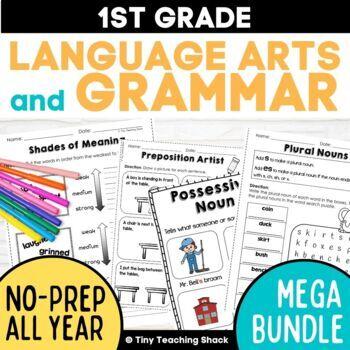 First Grade Language Arts No-Prep Printables MEGA BUNDLE