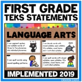 First Grade Language Arts TEKS Can and Will Standards Statements