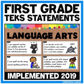 First Grade Language Arts TEKS - Can and Will Standards St