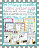 First Grade Language Arts and Math Common Core Super Bundle