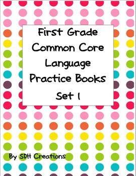 First Grade Language Common Core Practice Books 1-4
