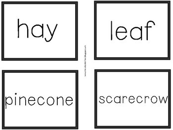 First Grade Language: Fall Parts of Speech Sort
