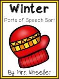 First Grade Language: Winter Parts of Speech Sort