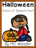 First Grade Language: Halloween Parts of Speech Sort
