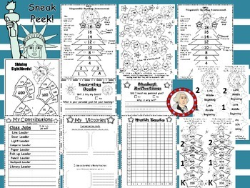 Kinder-First Grade Leadership Notebook & Data Binder: Patriot/Liberty/American