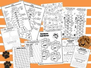 Kindergarten-First Grade Leadership Notebook and Data Binder: Roaring Cougar