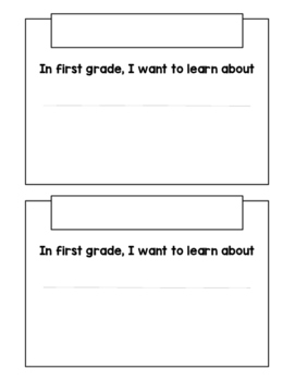 First Grade Learning Goals