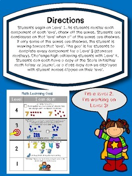 First Grade Learning Goals and Scales Math