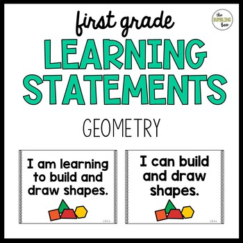 First Grade Learning Statement Posters: Math Geometry