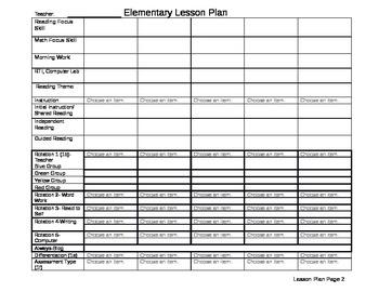 First Grade Lesson Plan (CCSS)