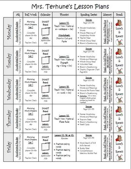first grade lesson plan examples by teaching with terhune tpt