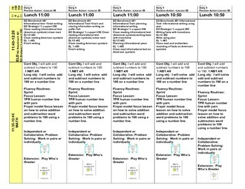 First Grade Lesson Plans FREEBIE