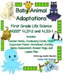 First Grade Life Science- Baby Animal Adaptations