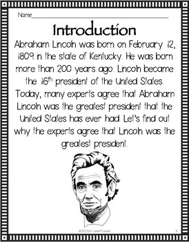 Close Reading: ABRAHAM LINCOLN