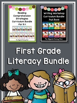 First Grade Writing Lessons and Reading Comprehension Lessons (BUNDLE)