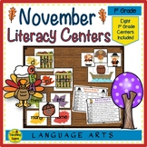 First Grade Literacy Center: November
