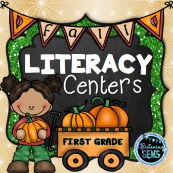 First Grade Literacy Centers (Fall Theme)