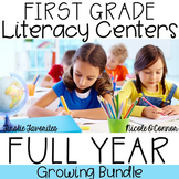 First Grade Literacy Centers Full Year Bundle