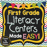 First Grade Literacy Centers Made EASY!