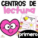 First Grade Literacy Centers Spanish February Centros de lectura primer grado