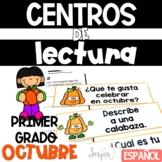 First Grade Literacy Centers Spanish October Centros de le