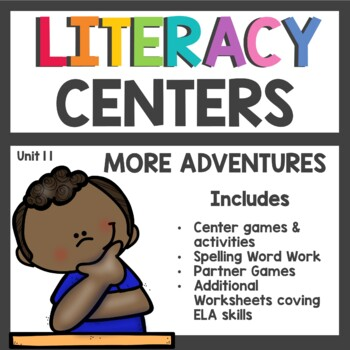 First Grade Literacy Centers Unit 11 2017 More Adventures
