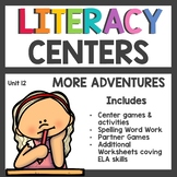 First Grade Literacy Centers Unit 12 2017 More Adventures