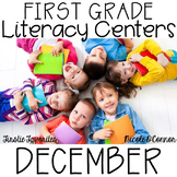 First Grade Literacy Centers for December