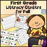 Literacy Centers for 1st Grade | Fall Literacy Centers 1st Grade GROWING BUNDLE