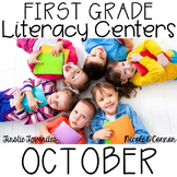 First Grade Literacy Centers for October